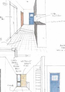 5号地 玄関・畳コーナーイメージ