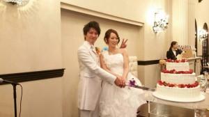 近藤夫妻 結婚式(入刀)